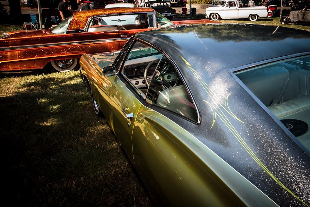 Custom Vehicle Roof : Custom paint on cars metal flaked roof photos
